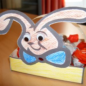 Fabriquer une corbeille lapin de Pâques