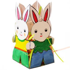 tuto pour bricoler avec les enfants une jolie corbeille lapins