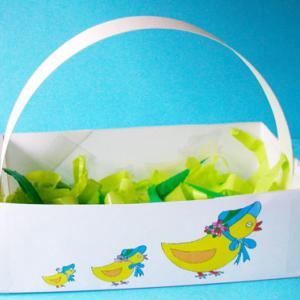 Corbeille de Pâques à colorier par les enfants