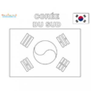 Coloriage du drapeau de la Corée du Sud