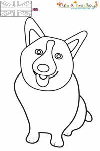 Corgi, le chien de la reine à colorier