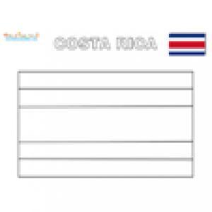 Coloriage du drapeau du Costa Rica