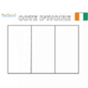 Coloriage du drapeau de la cote d'Ivoire