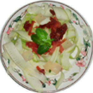 salade de courgette et magret de canard