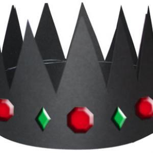 Couronne de roi et  gommettes