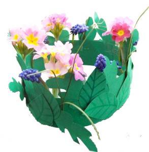 Couronne de fée ou de faune avec fleurs