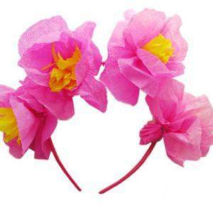 Fabriquer un serre tête en fleurs de papier crépon