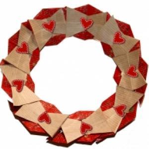 Couronne de Noël en origami