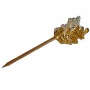 Crayon décoré d'une feuille dorée