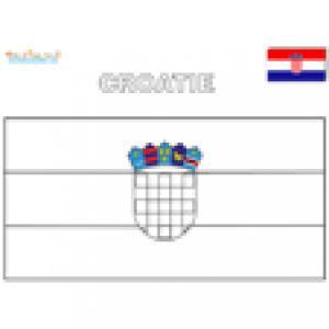 Coloriage du drapeau de la Croatie