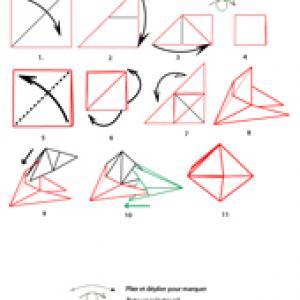 origami de la boule de Noël