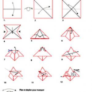 Croquis origami de la chauve souris
