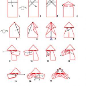 pliage de la chauve souris origami