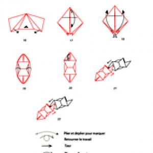 Croquis origami de la couronne 2