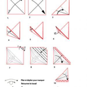 pliage origami d'une feuille d'arbre