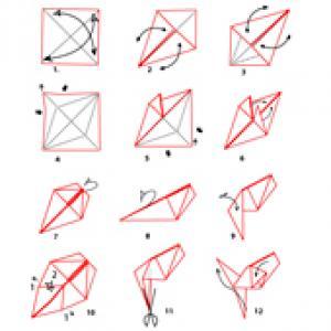 Fiche à imprimer: poisson origami