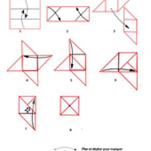 origami de la toupie à imprimer