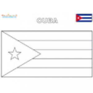 Coloriage du drapeau de Cuba