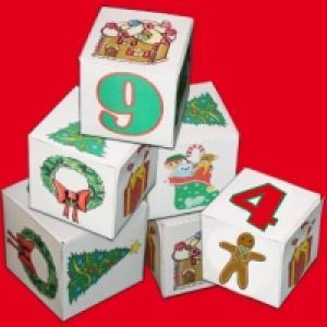 Cubes de Noël à chiffres