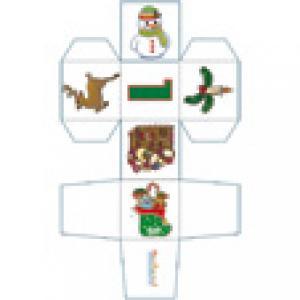 Cube de Noël 1 à imprimer