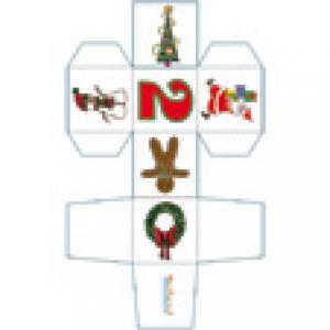 Cube de Noël chiffre 2 à imprimer
