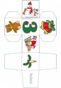 Imprimer un cube de Noël chiffre 3