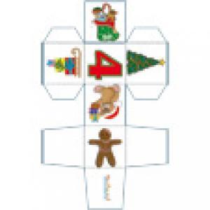 Cube de Noël N°4 décoré de motifs de Noël