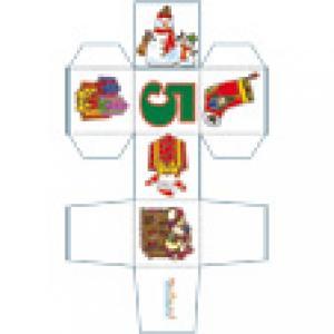 Cube de Noël décoré avec le chiffre 5