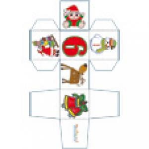 Cube 6 du jeu de cubes de Noël