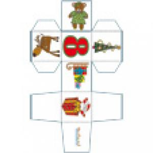 Cube de Noël 8 décoré du Père Noël au cadeau