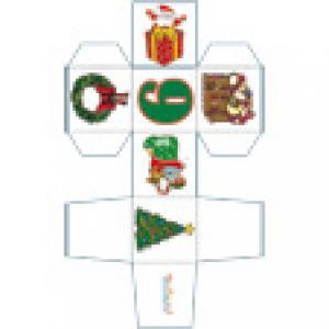Papertoy cube de Noël n°9