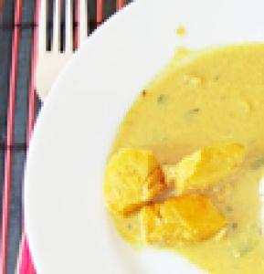 Poulet au curry et lait de coco Thaï