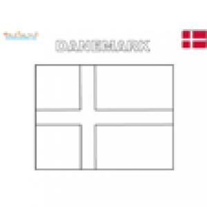 Coloriage du drapeau du Danemark