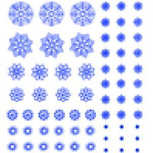 Décoration de flocons bleus à découper