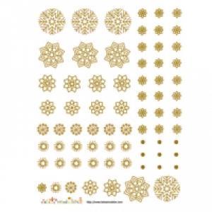 décoration de flocons bronze à découper