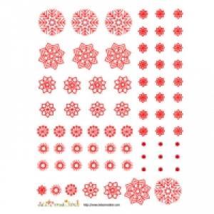 Décoration de flocons rouges à découper