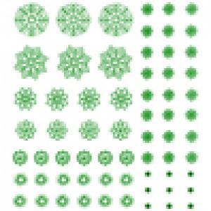 Flocons verts à découper