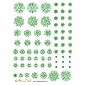 Décoration de flocons verts à découper