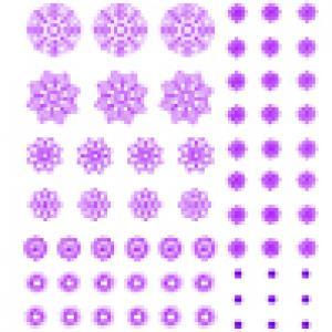 Flocons violets à découper