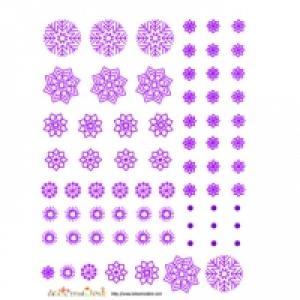 Décoration de flocons violets à découper