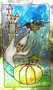 Vitrail d'Halloween en plastiques