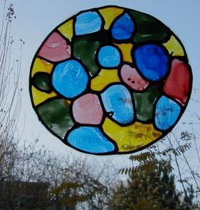 Exemple de décoration de fenêtre vitrail