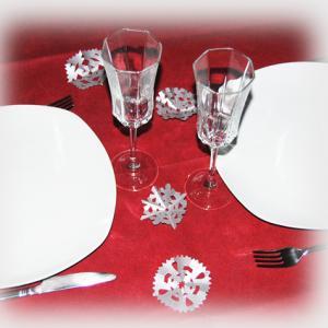 flocons pour décorer la table