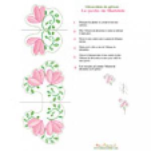 """Grosses fleurs pour décoration de gâteau """"le jardin de Mathilde"""""""