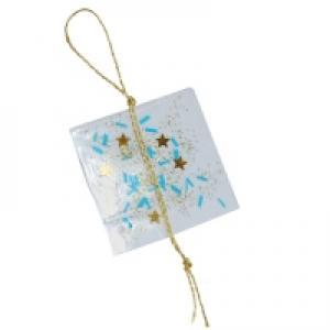 Décoration de sapin de noël : carré pailleté