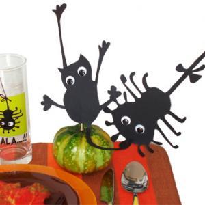 Décoration de table halloween réalisée avec la vaisselle Luminarc