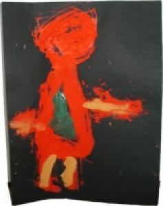 Faire des dessins d'enfants sur une feuille noire pour mieux les mettre en valeur