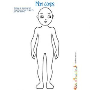 Je colorie mon corps de garçon