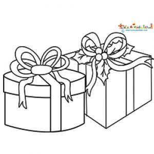 Deux cadeaux pour Noël à colorier