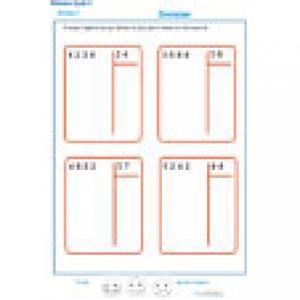 exercice 4 : divisions à deux chiffres